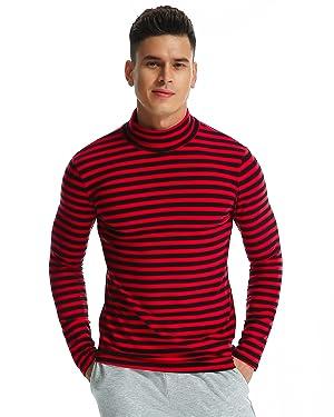 ... Top Tee Pull Col Roulé Haut Slim Fit. T-shirt à Manches Longues à Col  Roul é pour Homme abb1bb32495a
