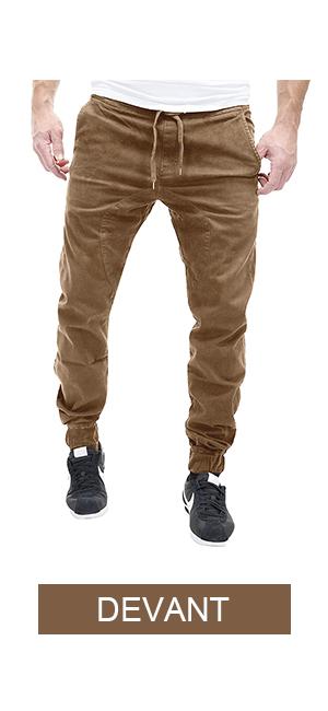 MODCHOK Homme Pantalon Sarouel Chino Jogging Sweat Pants Casual Sport Coton  Couleur Unie