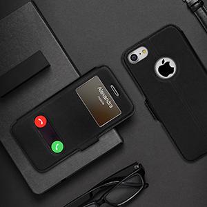 FYY Coque iPhone 8, Coque iPhone 7, Housse Magnetique Smart View avec Fenêtre d'Ouverture pour