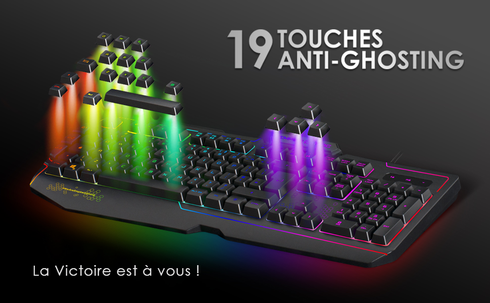 Clavier gaming gamer K900 Empire gaming RGB macros anti-ghosting rétro-éclairage touches mécanique