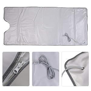 anti-vieillissement soulage la fatigue physique couverture pour maigrir machine de th/érapie de d/ésintoxication pour sauna perte de poids HUKOER Couverture de sauna infrarouge lointain