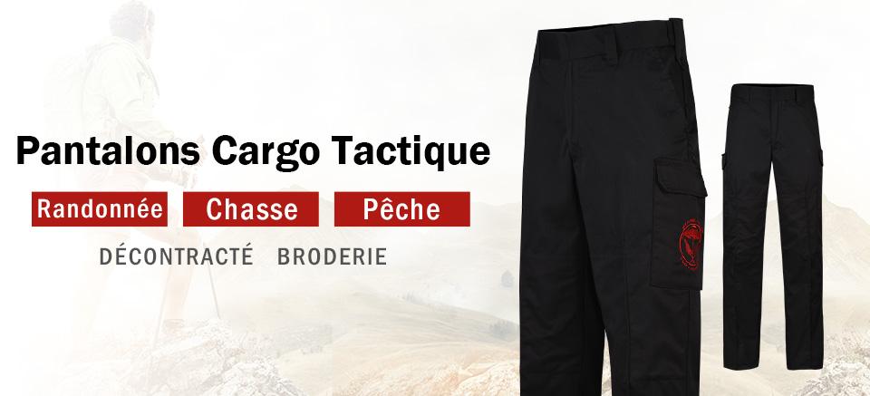 Lesmart Pantalon Cargo Homme Travail Chasse Tactique Regulier Poche Large