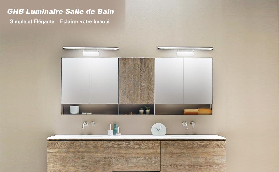 GHB Luminaire Salle De Bain, A Un Design Simple Mais élégant, Peut éclairer  Votre Maison.