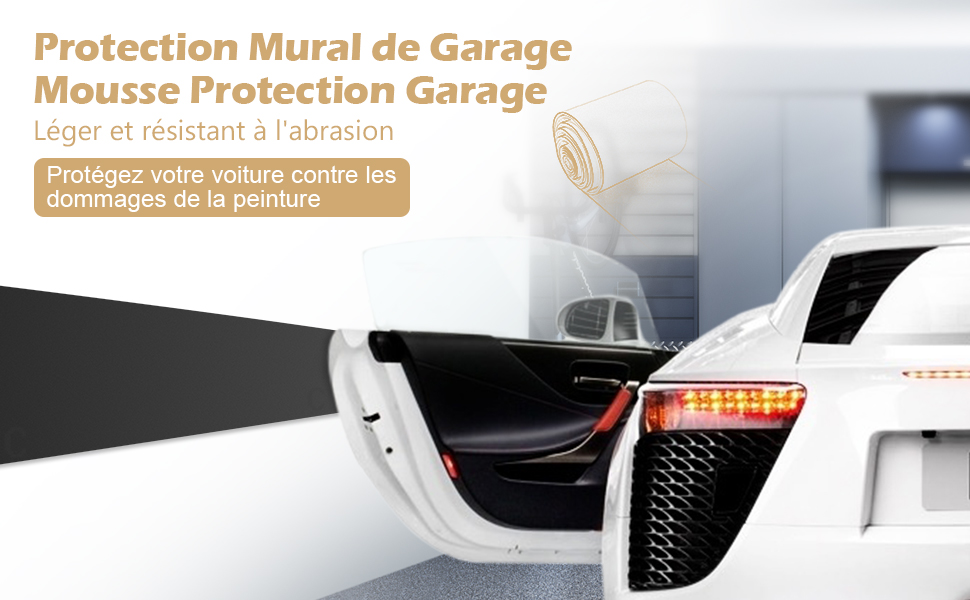 ghb protection mural garage mousse protection garage protege portiere voiture. Black Bedroom Furniture Sets. Home Design Ideas