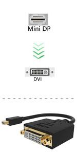 adattatore da mini displayport attivo a dvi 4k thunderbolt dvi adattatore microsoft surface pro 6 dvi