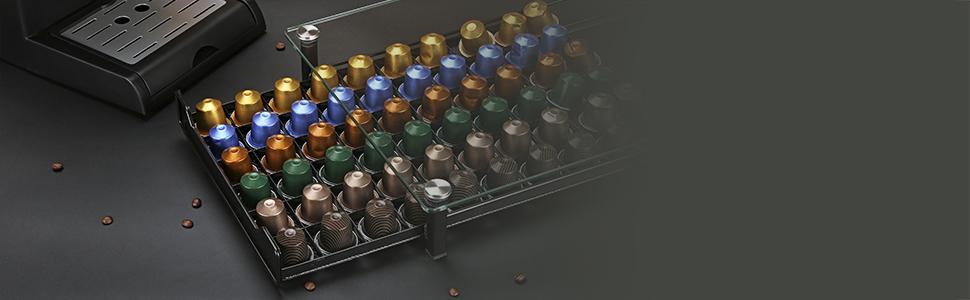Nespresso Capsule Storage Verre Trempé