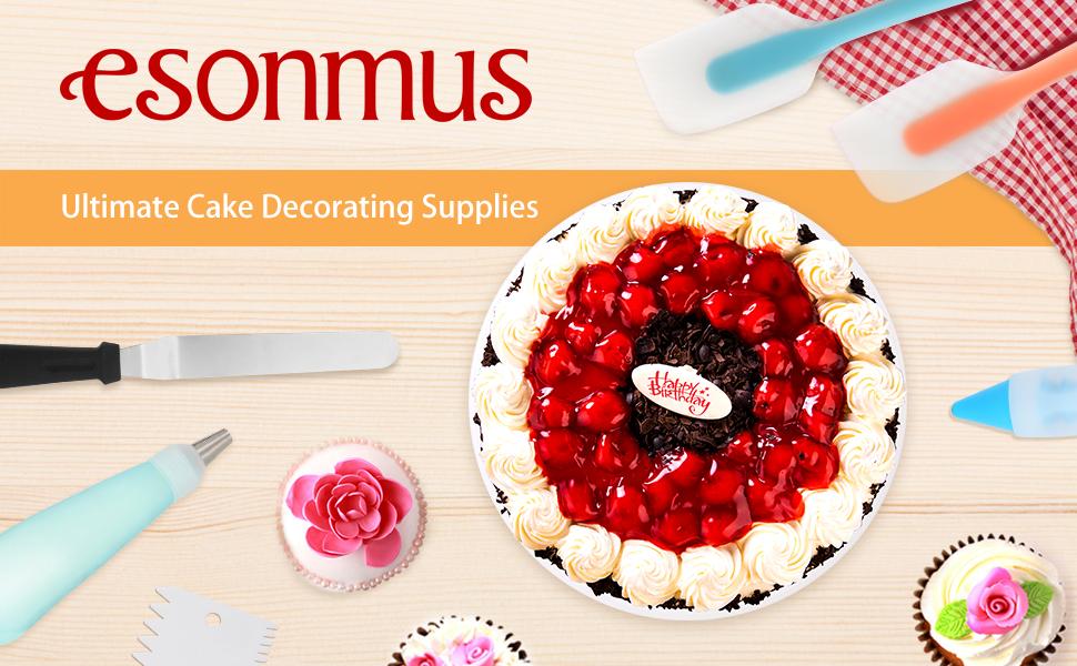 58 Décoration Gâteau Outils Set de Pâtisserie Kit Tips Pastry Bags Glaçage Spatule buses