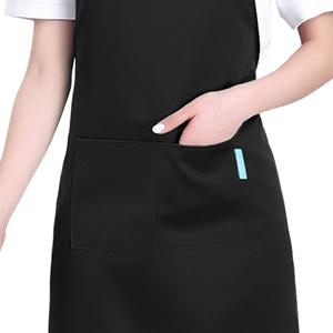 Eastery Tm Tablier De Taille De Chefs Professionnels Avec Sac Pour Simple Style Restaurant Cuisine Cuisson Color : Blanc, Size : Size Noir Noir Blanc Rouge Orange Caf/é Bleu Fonc/é