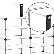 Cube de stockage avec portes