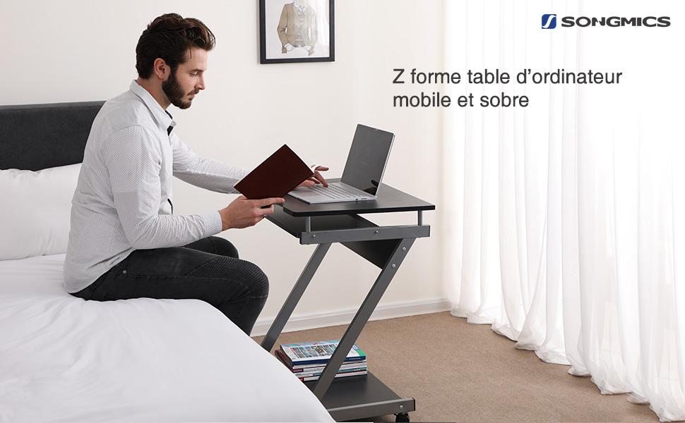 Songmics bureau informatique table informatique meuble de