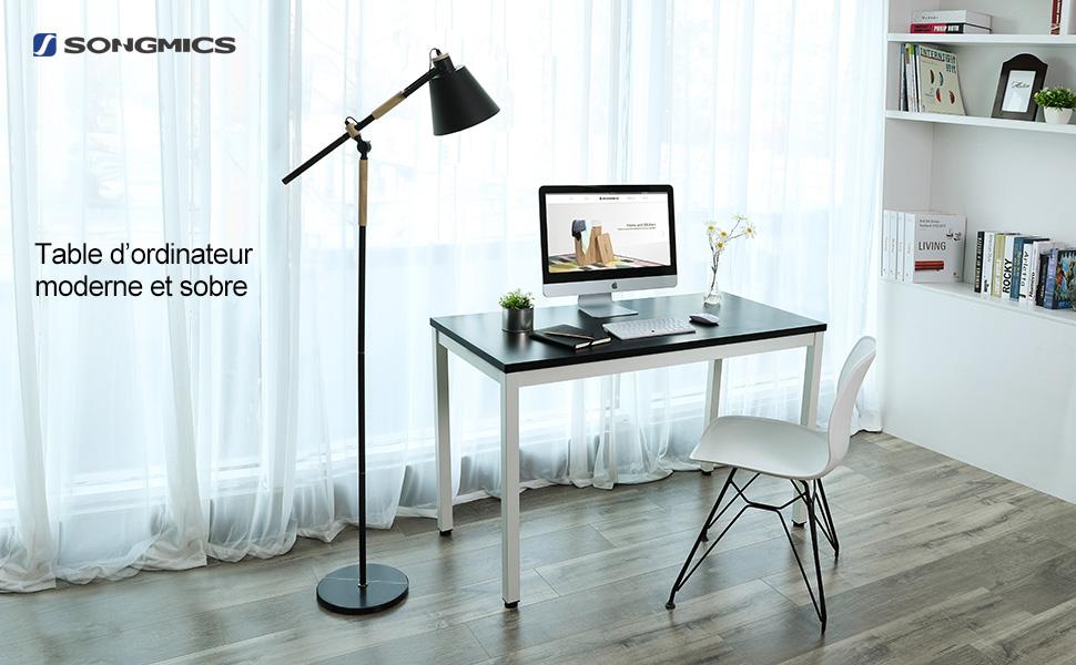 Bureau Ordinateur Noir Cdiscount : Bureau informatique verre merveilleux cdiscount chaise de bureau
