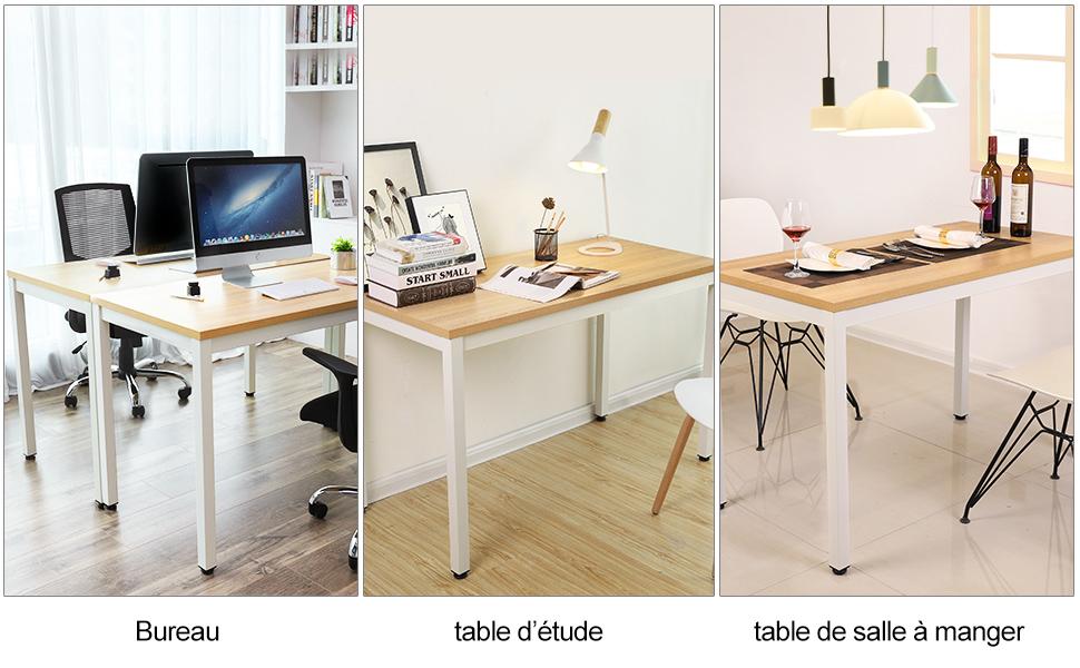 Songmics bureau informatique table d ordinateur table de bureau