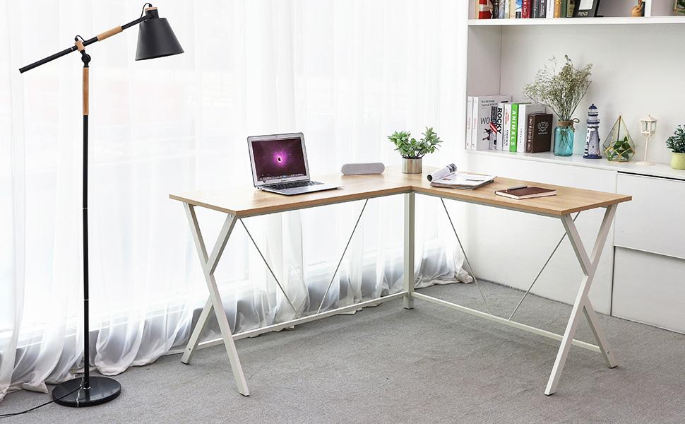 Songmics bureau informatique table d angle meuble de bureau