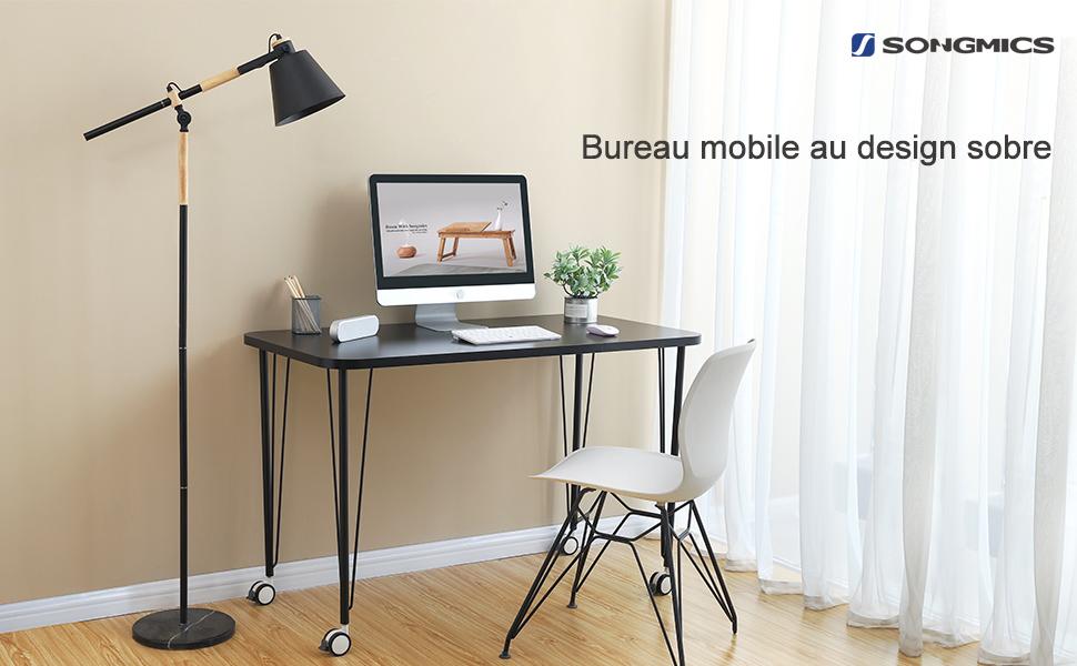 Songmics® mobile bureau informatique table dordinateur sur