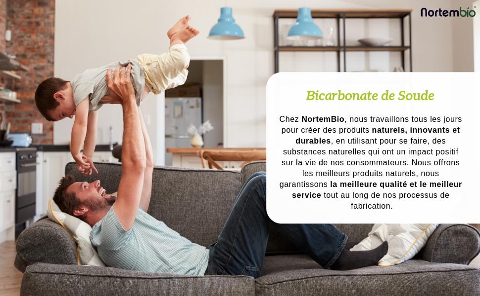 NortemBio Bicarbonate de Soude Biologique Qualité Suérieure
