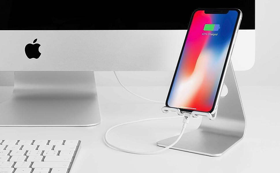Rampow Câble pour iPhone 2m/6.5ft [Certifié Apple MFi] Câble Lightning avec Connecteur Ultra
