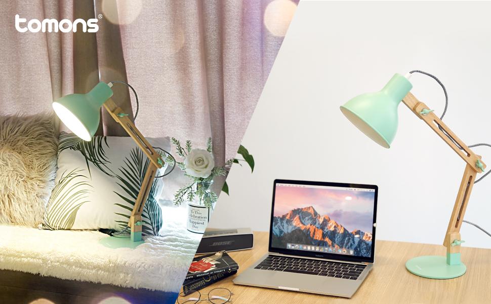 Tomons led lampe de table lampe de bureau salon design original
