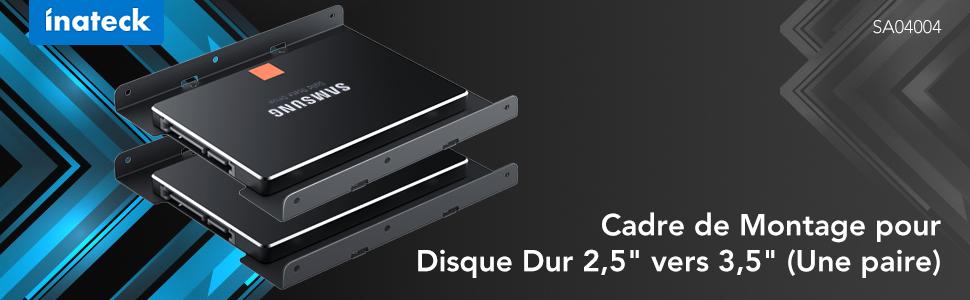 """Cadre de Montage pour Disque Dur 2,5"""" vers 3,5"""""""