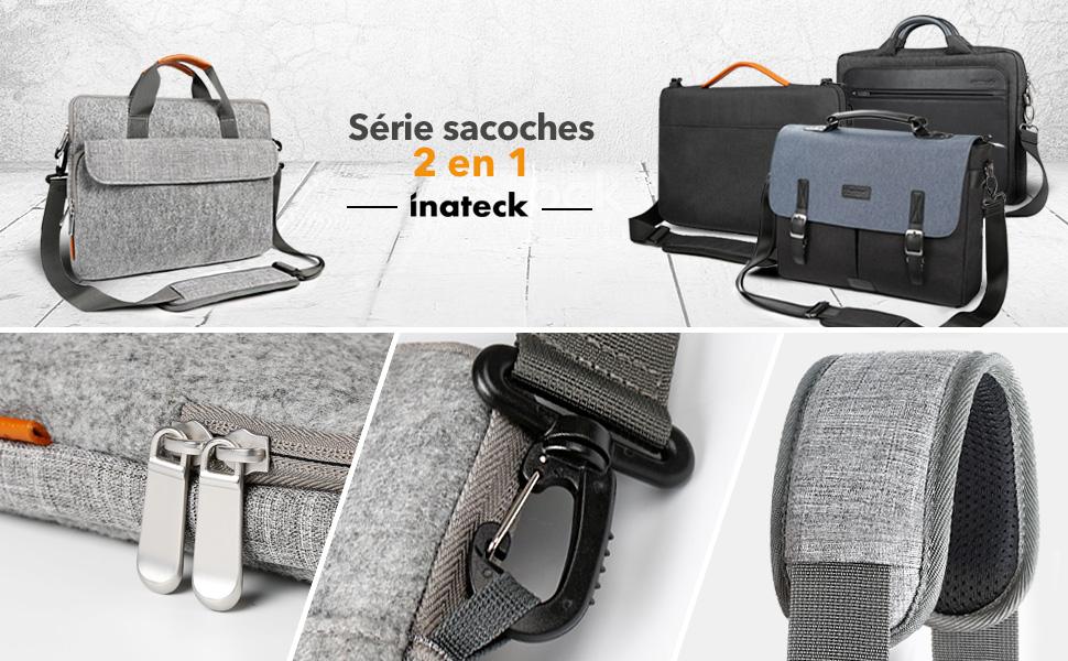 Inateck Sac Bandoulière pour Ordinateur Portable 15-15,6 Pouces