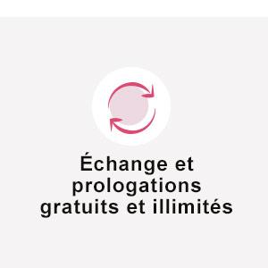 Echange et prolongations gratuits Wonderbox