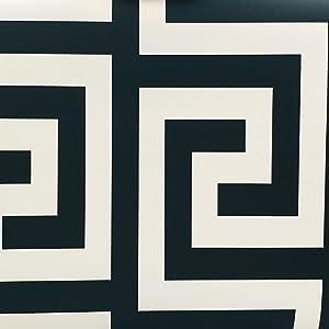 10 m noir et blanc Papier peint graphique g/éom/étrique minimaliste noir blanc salon chambre TV fond papier peint 0,53 mat/ériau PVC
