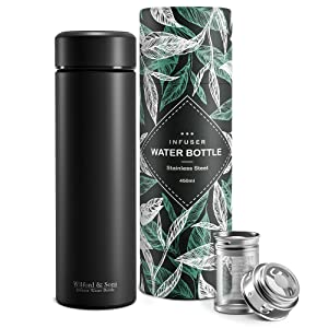 Wilford & Sons tea infuser fruit bottle stainless steel thermo insulated bottle insulation