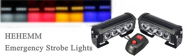 HEHEMM 2PCS 8 LEDs Durgence Stroboscopique Feux de D/étresse Feux de Secours Clignotant Feux Davertissement 12V Universel pour Voiture Camion Remorque bleu Lumi/ères Stroboscopiques
