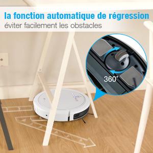 EC Technology Aspirateur Robot avec Capteur Intelligent TAC