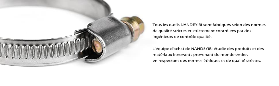 10pièces 32mm 50mm Collier De Serrage Din3017 Nandeyibi Ajustable En Acier Inoxydable Tuyau Pinces Clips Fixation Conduite Tuyauterie Voiture