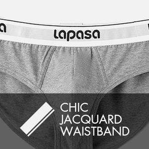 Confortable Stretch Respirant Coton Premium Classique et Doux M04 LAPASA Slip Homme Taille /Élastique sous-v/êtement Lot de 4