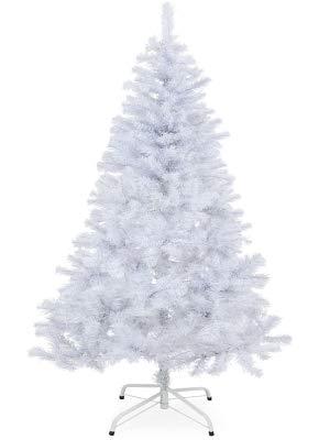Sapin blanc 150 cm arbre de noël décoration fêtes de fin d'année