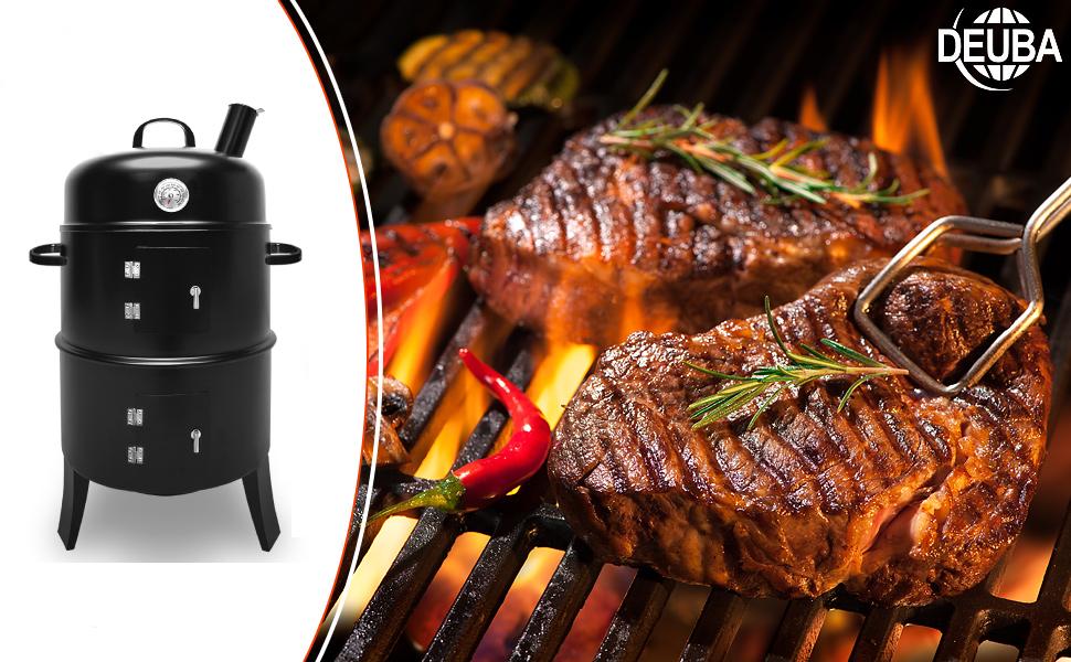 Test du BBQ Smoker DEUBA : bon fumoir barbecue pas cher