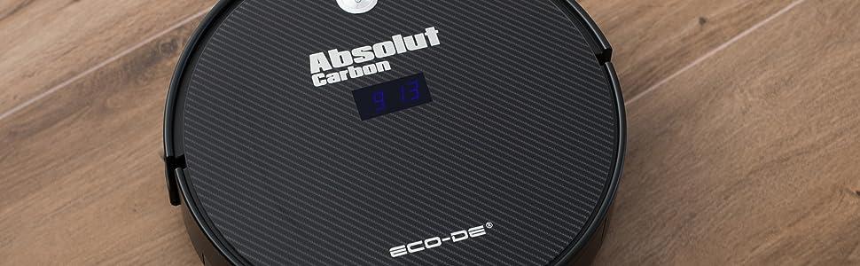 ECO 998 Aspirateur Robot, Aspire Tapis, Moquettes et Sols