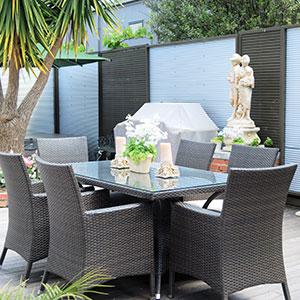 Gardenmate Housse Protectrice Pour Mobilier De Jardin En Polyester Oxford Premium 220gm² 200x160x70cm Anthracite