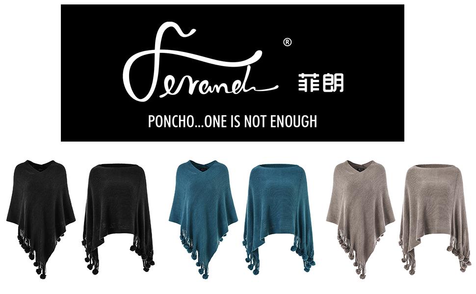 Ferand - Poncho para mujer