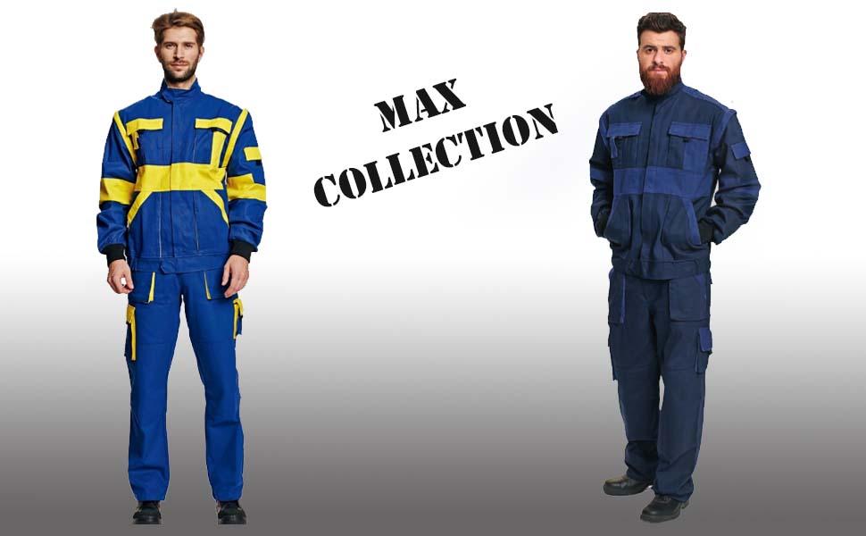 Stenso Max Salopette de Travail//Cargo pour Homme en Coton Plusieurs Couleurs