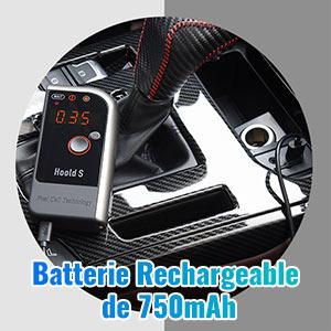 TOPELKE Alcootest /Éthylotest num/érique avec /écran LCD avec capteur de Piles /à Combustible et LED /écran avec 4 Embouts 750mAh Batterie Rechargeable