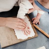 Unique infantile b/éb/é enfants empreinte de la main empreinte argile douce sp/écial /éducatif b/éb/é bricolage s/échage /à lair argiles bons jouets artisanat cadeau