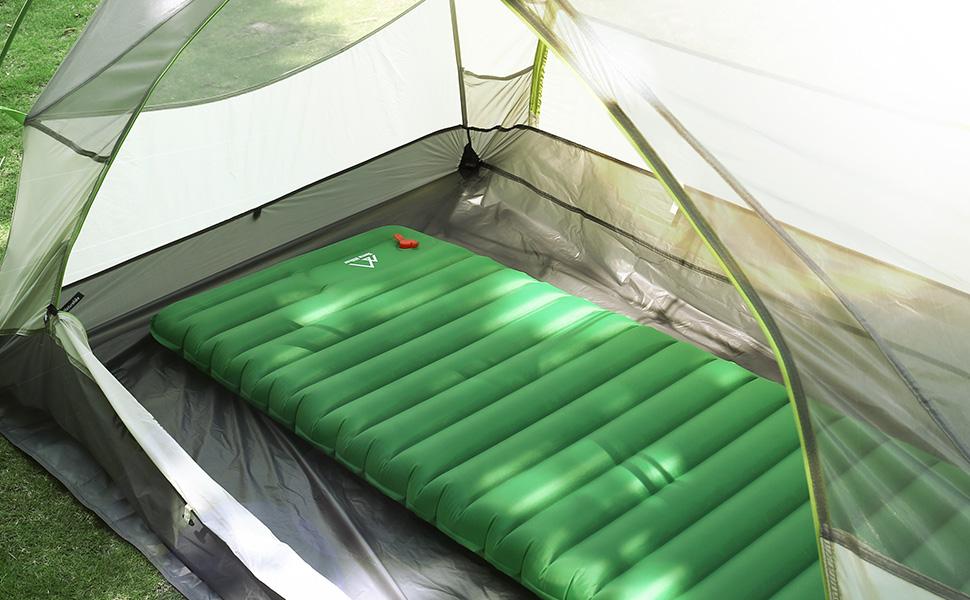 Matelas gonflable de camping terra hiker metelas - Matelas gonflable a l air ...