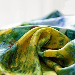 Riproduzione Monet foulard quadrato seta donna