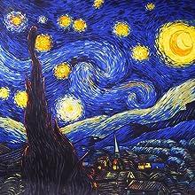 Van Gogh - Sciarpa notte la stella