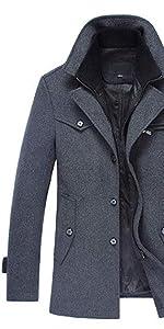 Homme Hiver Manteau Trench-Coat Chaud Slim fit Casual · Manteau Homme Laine  Hiver Chaud Parka Veste en Fourrure Trench · Manteau Homme d hiver Laine  Veste ... 009f4047c905