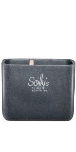 Sollys Brosse de WC avec Support env 10,2 x 38,5 cm Manche Long en Polyr/ésine