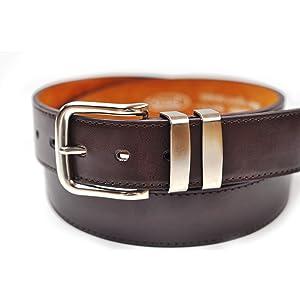 82cm - 152cm taille brun ou tan Ossi 38mm Jean double boucle ceinture pour homme noir