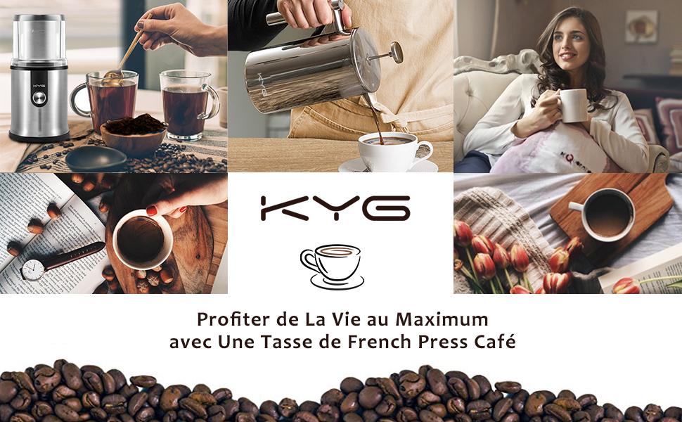KYG cafetière à piston