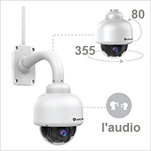 220 Dericam Wireless IP Kamera, Outdoor WiFi PTZ Überwachungskamera Wasserdicht Aussen 1080P Full HD