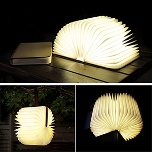 led livre lampe geediar lampe led pliante en forme de livre avec 2500mah batterie lithium lampe. Black Bedroom Furniture Sets. Home Design Ideas