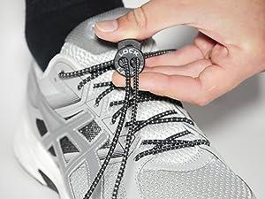 LOCK LACES Lacets Élastiques Sans Nœud Autobloquant Sans Laçage Sport, Running, Triathlon Adulte et Enfant 1 paire