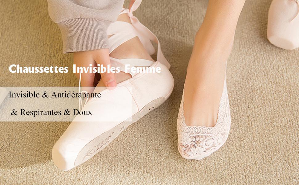 Gather Other Lot de 3 Paires Chaussettes Invisibles Femme
