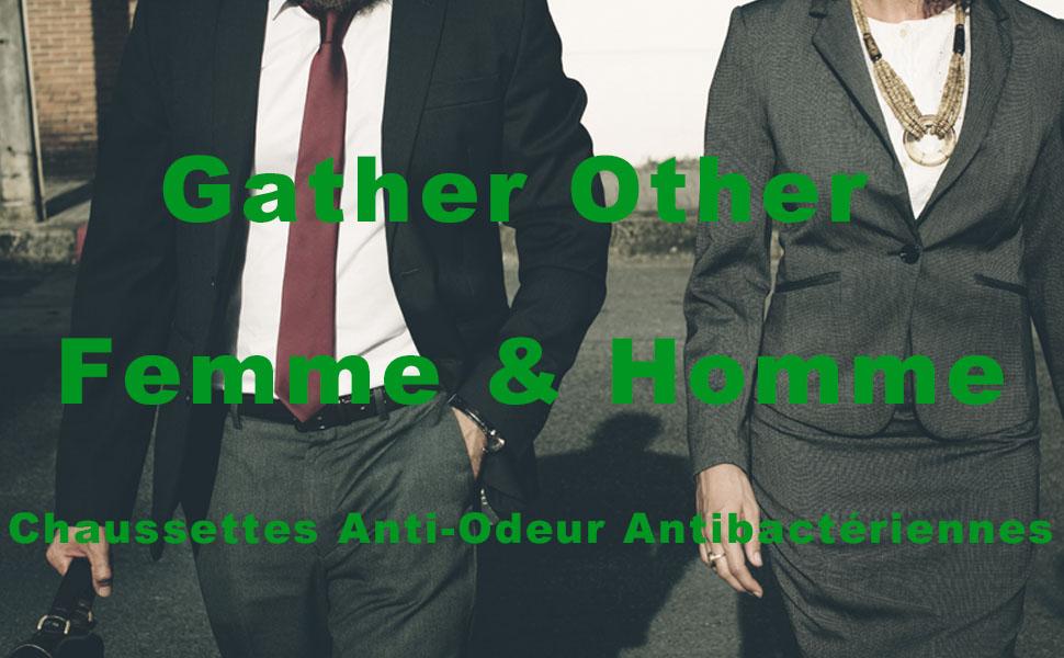 Gather Other Chaussettes Hautes Sport Homme Femme Anti Odeur Antibact/ériennes Socquettes Techniques Lot de 5 Paires